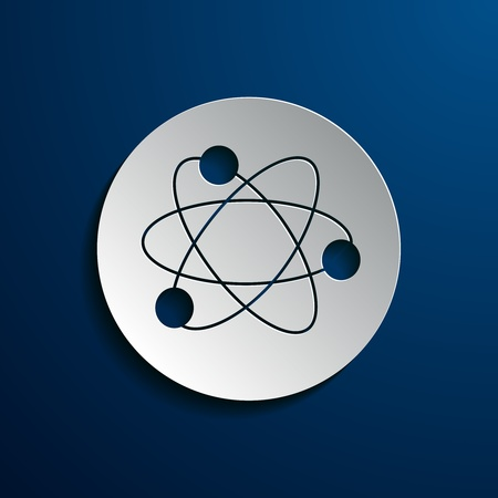 electrons: Vector illustration of icons with a symbolic representation of a molecule