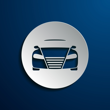 blue logo: Vector illustration of car icons on a white background