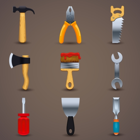chisel: Vector illustration of icon tools
