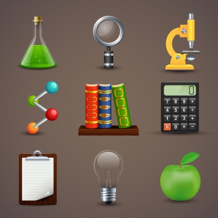 illustration of icons on a theme of science Vector