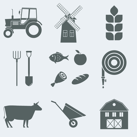 ear drop: Vector illustration on the theme of agriculture