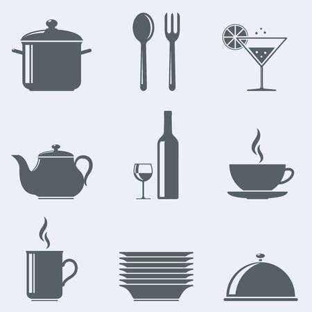 Vector illustration of icons utensils
