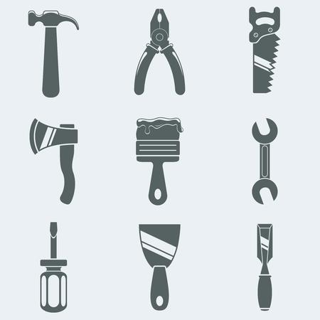 alicates: Ilustración vectorial de iconos de herramientas de mano Vectores