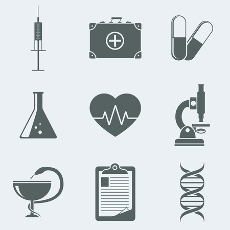 dissolved: Vector illustration of icons on a theme medicine Illustration