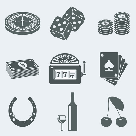 gambling game: Vector illustration of icons on a theme of gambling Illustration