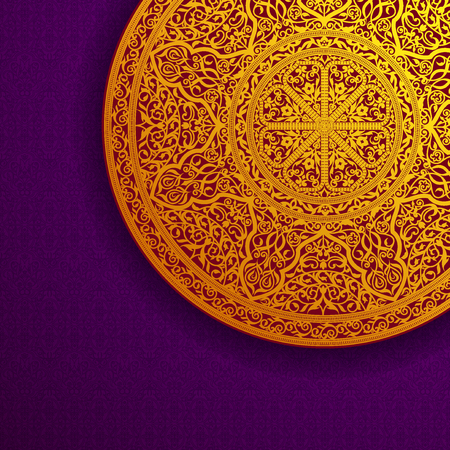 Vector illustration background with oriental ornaments Çizim