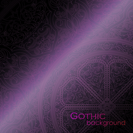 gothic background: Vector illustration of a Gothic background Illustration