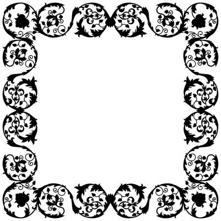 Vector illustration of a decorative frame Çizim