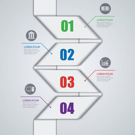 Vector illustration of abstract images infographics