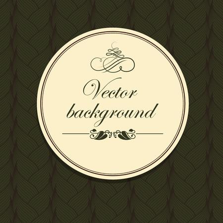 Vector illustration of a patterned background