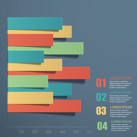 computer graph: Vector illustration infographics. Paper strips superimposed on each other.