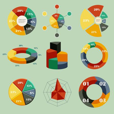 Set of vector diagrams