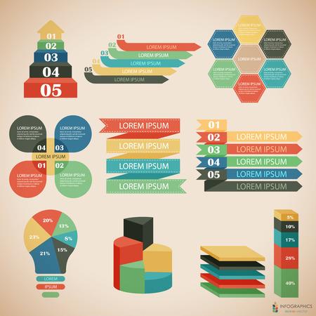 ladder: Vector illustration set of infographics Illustration