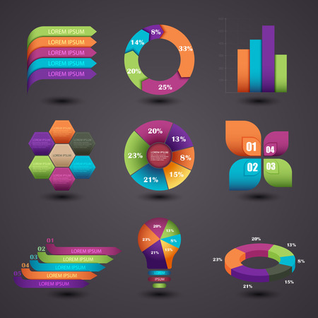 Vector illustration of a graphic information Stok Fotoğraf - 36357335
