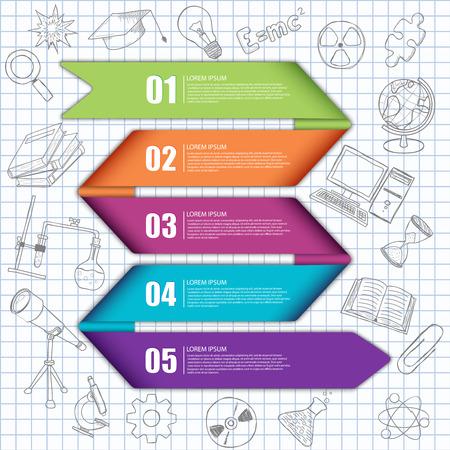 Vector illustration of a graphics information Stok Fotoğraf - 36357365