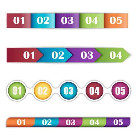 timelines: illustration of a set of timelines