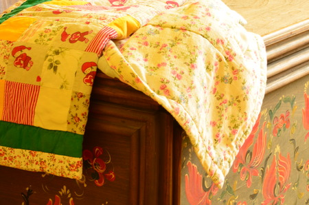 patchwork: Patchwork on beautiful painted chest