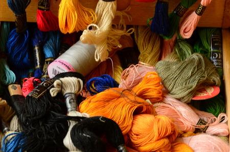 yarns: Cotton yarns Stock Photo