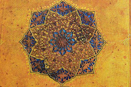 plaster of paris: Embossed golden ancient pattern
