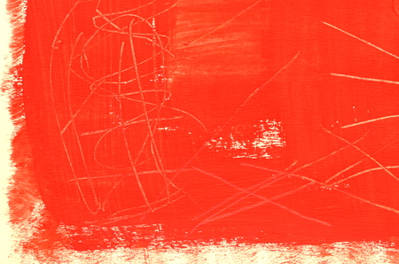 scratches: Hand painted  multi layered red background with scratches Stock Photo