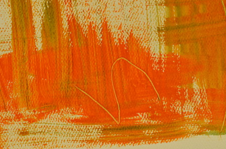 scratches: Hand painted  multi-layered orange background with scratches