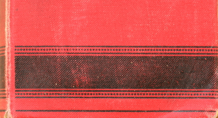 big bible: Back of vintage book. Fine-grained motive with red and black texture. Stock Photo