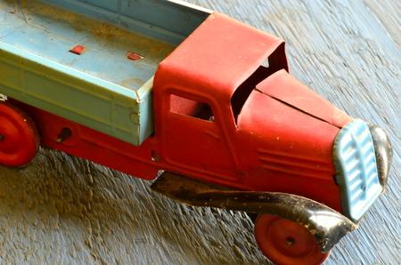 coachwork: Vintage toy car - truck (lorry) toy with iron coachwork Stock Photo