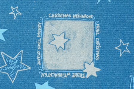 motive: Blue Christmas motive on paper carton with blurry effect