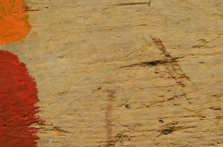 scratches: Embossed texture of rough wood with scratches and stains of color. Vintage and retro motive Stock Photo