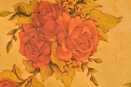 18th century style: Vintage Floral Grunge Tapestry Scrapbook Background. For scrap booking and design.