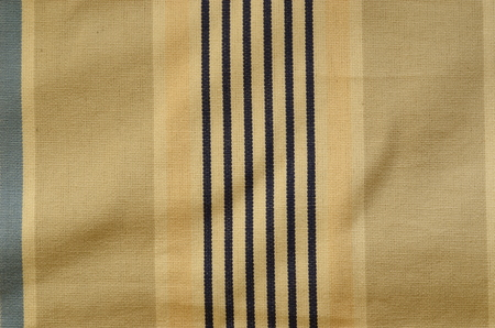 roman blind: Curtain texture. Sunblind cloth with old navy stripes Stock Photo