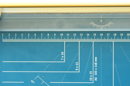 guillotine: A paper guillotine, paper cutter with measuring features