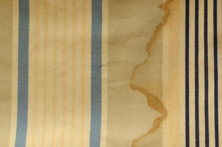 roman blind: Curtain texture. Sunblind cloth with old navy stripes and shabby effect