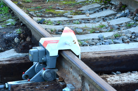 derail: Derail device on railroad line