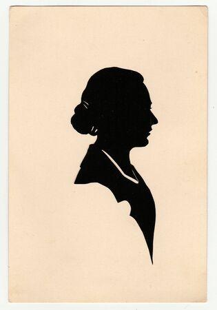 czechoslovak: THE CZECHOSLOVAK REPUBLIC, 1930s:  Vintage silhouette of woman, 1930s.