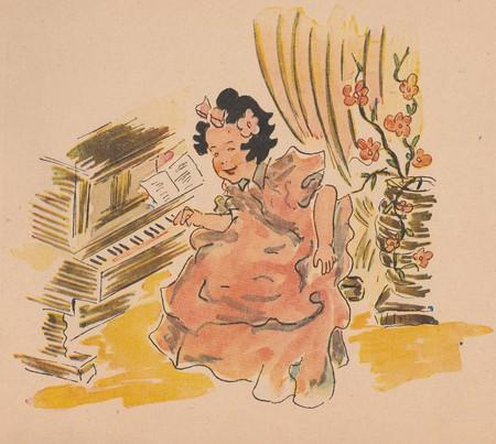 czechoslovak: THE CZECHOSLOVAK REPUBLIC - CIRCA 1944: Vintage drawing by Martin Neuzil.