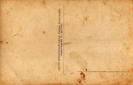 LA RÉPUBLIQUE TCHÉCOSLOVAQUE - CIRCA 1930: Retour d'une photo vintage - carte postale. détachants et papiers détails riches. Peut être utilisé comme arrière-plan.
