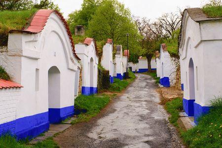 moravia: Traditional Wine Cellars - Plze, Petrov, Czech Republic, Europe. Wine lore and folklore. Moravian wine cellars.
