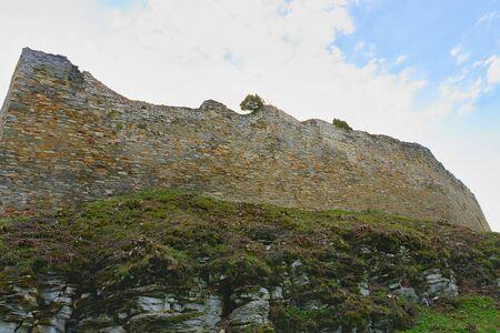 bulwark: Ruins of fortification (bulwark). Medieval rampart.