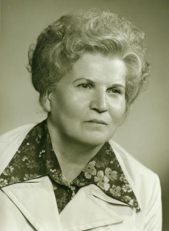 photo album: THE CZECHOSLOVAK SOCIALIST REPUBLIC - CIRCA 1980s: Retro photo shows studio portrait of an elderly woman. Vintage black & white photography.