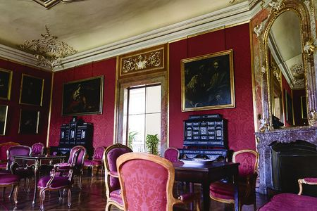 Chateau Valtice, Lednice-Valtice Cultural Landscape is World Heritage Site, one of the most impressive baroque residences of Central Europe. Interior Editorial