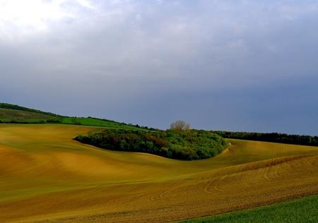Spring landscape. Moravian Tuscany, south Moravia, Czech Republic, Europe.