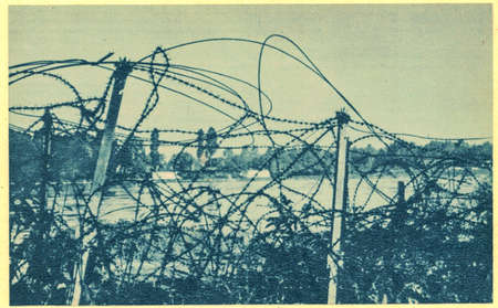 GERMANY - CIRCA 1939: The Western Wall, the Western Allies and Siegfried Line called was one for about 630 km distributed military defense system along the western border of the German Reich - Rheinland.