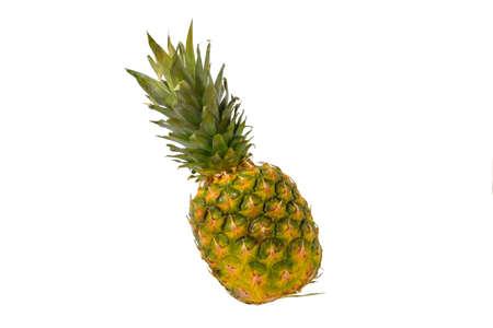 Pineapple fruit isolated on white background. Ripe pineapple isolated on white background Standard-Bild