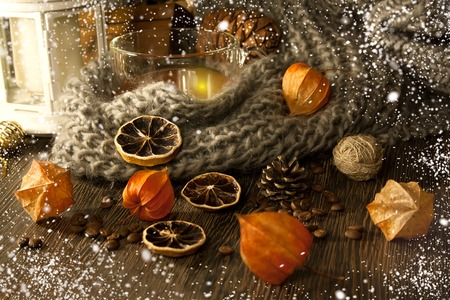 2018 nouvelle année et fond de noël . magie de neige. . ukraine Banque d'images - 82745734