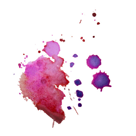 Vector multicolored watercolor splash texture blots background isolated. Grunge hand drawn blob, spot and droplets. Watercolour splatter stain effects. Spring and winter seasonal colors drips abstract background.  向量圖像
