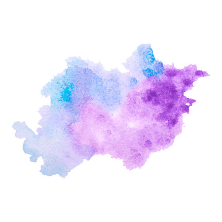 Vector multicolored watercolor splash texture blots background isolated. Grunge hand drawn blob, spot and droplets. Watercolor splatter stain effects. Spring and winter seasonal colors drips abstract background.  イラスト・ベクター素材