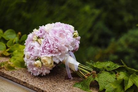 Beautiful wedding bouquet. Brides flowers