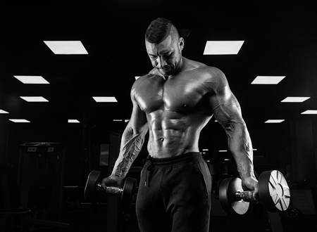 musculation: Handsome Power Athletic Guy Male - Fitness Muscular Body