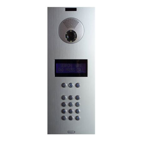 intercom video and voice connection security system isolated on white background